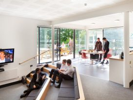 New 43 pupil Boarding House at Kingswood School, designed to create welcoming, home-style environments that instil confidence for boarding pupils including new social and study rooms.  The design has an array of sustainable credentials including: natural ventilation and daylight, high levels of insulation, natural materials such as Cedar wood and Bath stone, solar thermal panels to provide hot water and Photovoltaic panels to generate electricity.  The new House will allow greater flexibility for use by external groups, such as summer student accommodation.Kingswood School in Bath is an independent co-educational school providing boarding and day school education for pupils aged 3 to 18 years. Client: Kingswood School. Architect: Batterham Matthews Design. Main contractor: Rydon